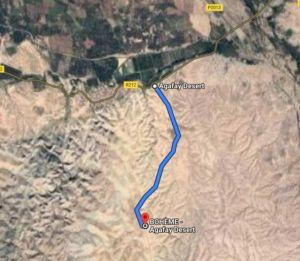 Trajet depuis l'entrée du désert jusqu'à Bohème Agafay Desert