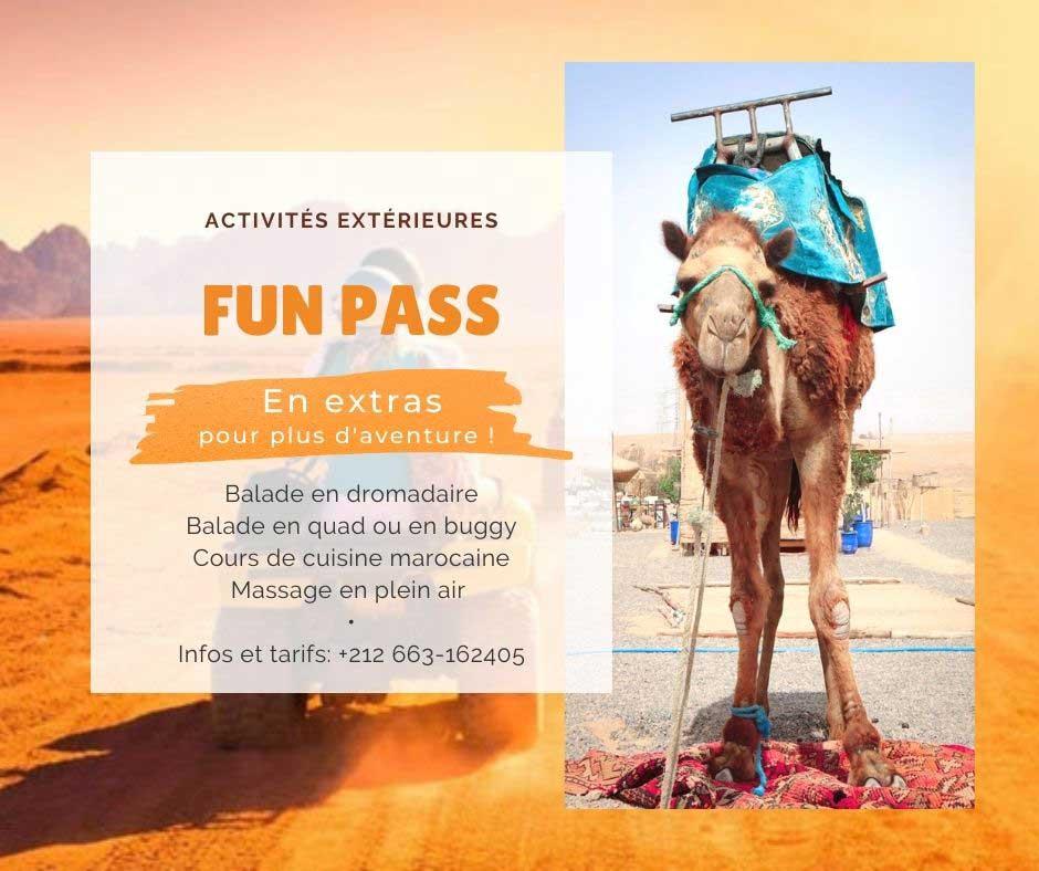 Fun pass La Bohème Marrakech: outdoor activities (quad, camel ride) in Agafay