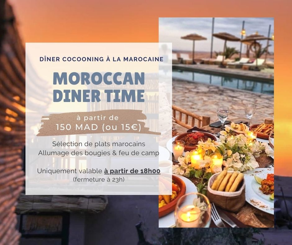 Night pass La Bohème Marrakech: dîner cocooning à Agafay